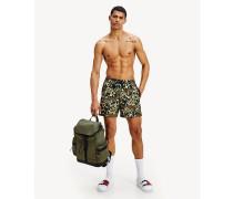Slim Fit Badeshorts mit Camouflage-Print