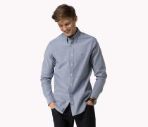 Slim Fit Hemd Aus Oxford-stretch-baumwolle