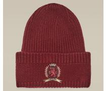 Wappen-Mütze aus Woll-Kaschmirmix