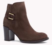 Ankle Boots Aus Wildleder Mit Absatz
