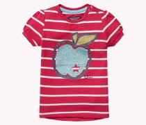Rundhals-t-shirt Aus Baumwoll-modal