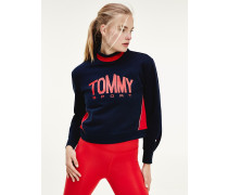 Tommy Icons cropped Sweatshirt mit Turtle Neck