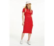 Gestreiftes Bodycon-Kleid in Midi-Länge
