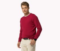 Rundhals-Pullover aus Baumwoll-Leinen