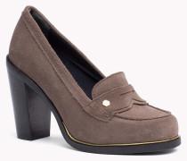 Wildleder-loafer Mit Hohem Absatz