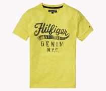 T-shirt Aus Bio-baumwolle Mit C-neck