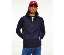 Sweatshirt mit Mock-Rollkragen und Flag