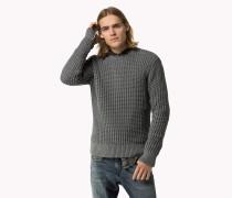 Strukturiertes Strick-sweatshirt