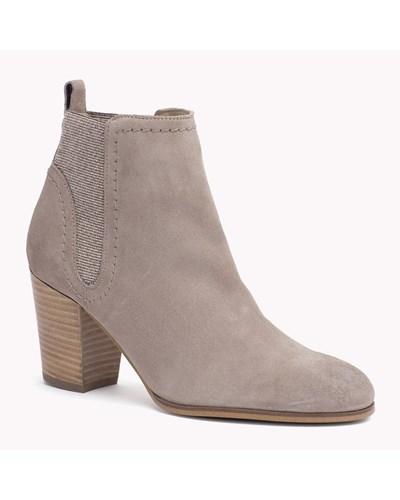 tommy hilfiger damen ankle boots aus wildleder mit absatz. Black Bedroom Furniture Sets. Home Design Ideas