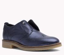 Leder-Loafers in Metallic-Optik