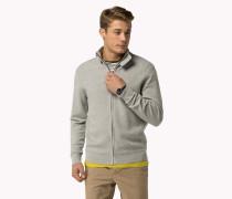 Baumwoll-cardigan Mit Durchgehendem Reißverschluss