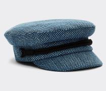 Baker Boy-Mütze aus Baumwoll-Tweed