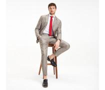 Slim Fit Leinen-Anzug