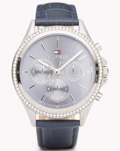 Ari Armbanduhr mit blauem Leder