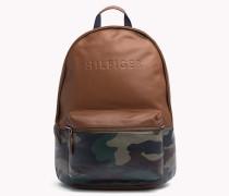 Camouflage-Rucksack aus Leder