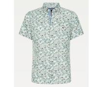 Kurzarm-Hemd mit Palmenprint
