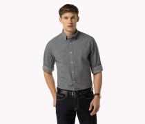 Tailliertes Hemd mit Mikro-Punktmuster