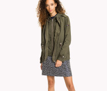 Cotton Twill Hooded Parka