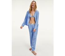 Pyjamahose aus verwaschenem Krepp
