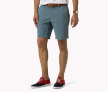 Bedruckte Regular Fit Shorts Aus Baumwoll-mix