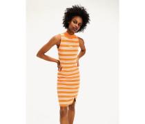 Gestreiftes Kleid aus Bio-Baumwolle