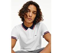 Gestreiftes Poloshirt aus Bio-Baumwoll-Piqué
