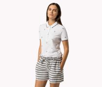 Poloshirt Aus Baumwoll-piqué Mit Print