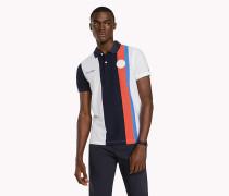 Slim Fit Poloshirt mit senkrechten Blockstreifen