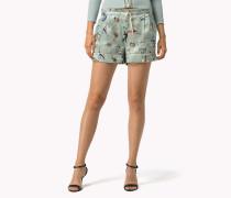 Bedruckte Seiden-shorts