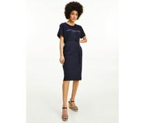 Curve Essential Kurzarm-Kleid mit Logo