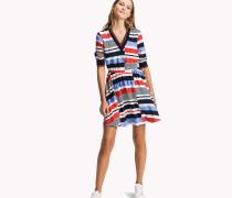Bedrucktes Kleid mit Branding