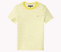 Rundhals-t-shirt Aus Baumwoll-flammengarn