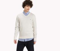 Pullover aus Luxury Baumwolle mit V-Ausschnitt