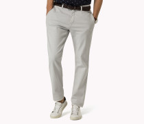 Slim Fit Stretch-chino Mit Dobby-webmuster