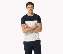T-shirt Aus Baumwoll-jersey In Blockfarben