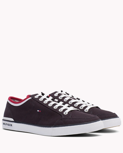 Tommy Hilfiger Herren Gestreifter Textil-Sneaker