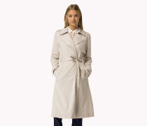 Trenchcoat aus Stretch-Tencel