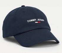 Bio-Baumwoll-Cap mit aufgesticktem Logo