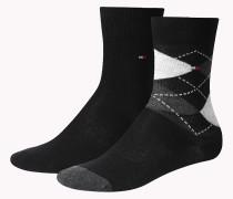 2er-pack Socken Mit Argyle-muster