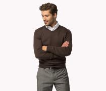 Sweater Aus Wolle Mit V-ausschnitt