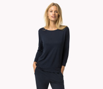 Unifarbenes Rundhals-t-shirt