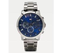 Multifunktionale Uhr mit Gliederarmband