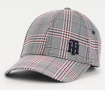 Baseball-Cap mit Karo und Monogramm