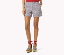 Baumwoll-shorts Mit Print
