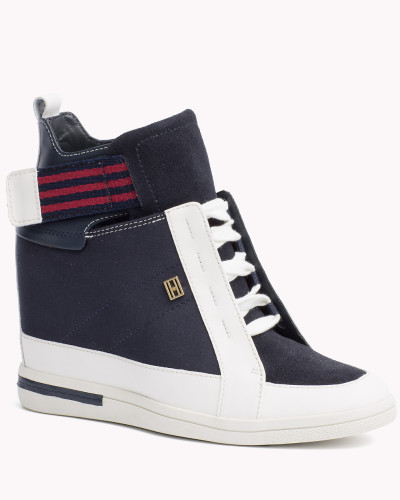 tommy hilfiger damen sneakers mit keilabsatz in. Black Bedroom Furniture Sets. Home Design Ideas