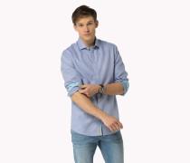 Bedrucktes Baumwollhemd Mit Dobby-webmuster