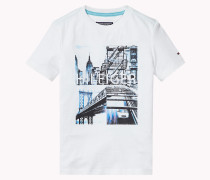 T-shirt Aus Baumwoll-mix Mit C-neck
