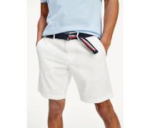 Brooklyn Twill-Shorts mit Gürtel