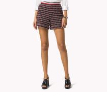 Shorts Aus Baumwoll-bouclé