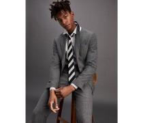 Slim Fit Anzug aus Wollmix mit Stretch